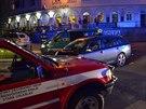 Při noční srážce dvou aut v Brandýse nad Labem zemřel řidič favoritu (15.7.2014)