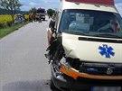Dvojit� nehoda na Blanensku (15. �ervence, 2014).