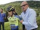 JE KONEC. �pan�lsk� cyklista Alberto Contador m�l v 10. etap� Tour de France