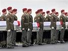 Ostatky čtyř českých vojáků, kteří padli v úterý v Afghánistánu, dorazily na...