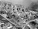 Pardubice po bombardování (22. července 1944)