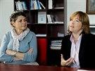 Místopředsedkyně Židovské obce v Praze Eva Lorencová (vlevo) a ředitelka Centra sociální péče Hagibor Elena Jaroševská