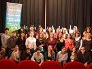 Romští vysokoškoláci na setkání stipendistů ve Francouzském institutu v Praze v...