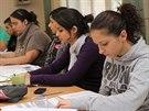 Účastníci přípravných kurzů na vysoké školy, které pořádá spolek Slovo 21.