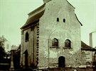 Kaple svatého Lukáše, která stávala na rohu ulic Puchmajerova a Zámecká v...