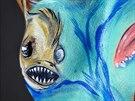Podmořský svět, obraz na těle podle Denisy Duksové Pýchové