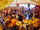 Hudebn� workshop na festivalu Kry�tof Kemp v N�m�ti na Han� (12. �ervence 2014)