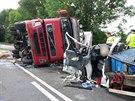 Tragická nehoda u obce Rybná nad Zdobnicí na Rychnovsku. (17. 7. 2014)