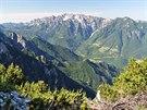 Panoráma Malých Dolomit z Monte Testo