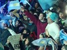 Argentinci oslavuj� v�hru nad Nizozemci.