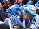 Nervydrásající zápas sledují Argentinci a Němci v ulicích měst.