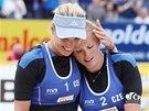 Kristýna Kolocová a Markéta Sluková na turnaji v Gstaadu.