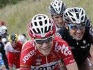 DŘINA. Tony Gallopin ve skupinu uprchlíků v deváté etapě Tour de France.