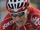 NA TRATI. Tony Gallopin v deváté etapě Tour de France.