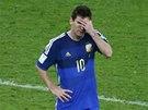 ZLATO UNIKLO. Lionel Messi po prohraném finále mistrovství světa.
