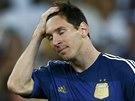 ZLATÝ SEN JE PRYČ. Argentinec Lionel Messi po prohraném finále.