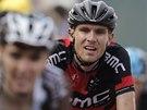 VYČERPANÝ. Tejay van Garderen míří do cíle desáté etapy Tour de France.