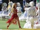 Na slavnostním ceremoniálu před finále fotbalového mistrovství světa vystoupila...