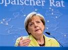 Německá kancléřka Angela Merkelová na středečním summitu EU