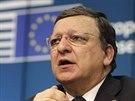 Končící předseda Evropské komise Jose Manuel Barroso na tiskové konferenci po...