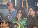 Příbuzní cestujících z havarovaného letu MH17 se scházejí na amsterdamském...