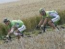 Peter Sagan (vlevo) a Maciej Bodnar během sedmé etapy Tour de France