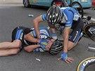 V jednom z pádů před cílem sedmé etapy Tour de France zůstalo i několik...