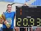 Jan Marcell si na mítinku v Ústí vytvořil koulařské osobní maximum 20 metrů a...