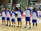 Čeští basketbalisté před přípravným kláním v Polsku.