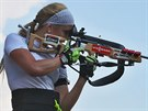 Gabriela Soukalová během letního tréninku v Letohradě.
