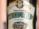 Pivo Krkonošský medvěd můžete ochutnat i s příchutí třešní.