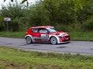 Jan Kopecký s Pavlem Dreslerem závodí na Rallye Bohemia.