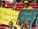 VEZMOU SE TAK JAKO TAK. Brazilští fanoušci před utkáním o třetí místo s