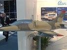 Maketa nového letounu L-39 NG, který byl představen na leteckém veletrhu v...