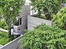 Střecha Domu pro stromy dokáže během tropických dešťů zadržet velké množství...