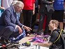 Princ Charles a princ William (Londýn, 9. července 2014)