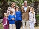 Belgický král Philippe, královna Mathilde, princezna Eleonore, princ Emmanuel,...