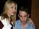 Tatum O'Nealová a její syn Kevin McEnroe (New York, 1. února 2009)