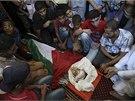 Pohřeb desetiletého palestinského chlapce, který zemřel při izraelských
