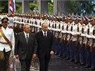 Ruský prezident Vladimir Putin a jeho kubánský protějšek Raúl Castro (12. 7.