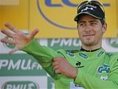 ZELEN� DRES NAD ETAPY? Slovensk� cyklista Peter Sagan se zat�m v etapov�ch dojezdech na Tour de France neprosadil.