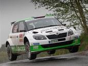 Fabia S2000 na Rally Český Krumlov 2014. Posádka Jan Kopecký / Pavel Dresler...