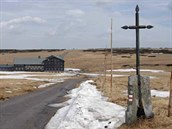 Rennerův kříž nad Luční boudou (archiv Správy KRNAP).