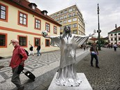 ZLATÁ PRAHA. Živé sochy navrhovanému zákazu odolají. Pokud si ovšem Praha...