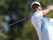 Tiger Woods na golfovém The Open.