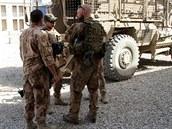 �e�t� voj�ci na z�kladn� Bagr�m v Afgh�nist�nu