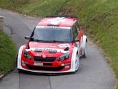 Jan Kopecký a Pavel Dresler b�hem rychlostní zkou�ky na Rally Bohemia