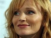 Aňa Geislerová na tiskové konferenci k filmu Fair Play (9. července 2014).