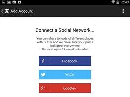 Buffer můžete propojit se všemi vašimi účty v sociálních sítích a předem si...