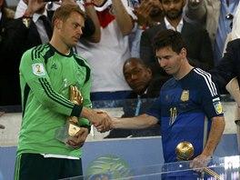 OCENĚNÍ. Nejužitečnějším hráčem fotbalového MS byl zvolen Argentinec Lionel...